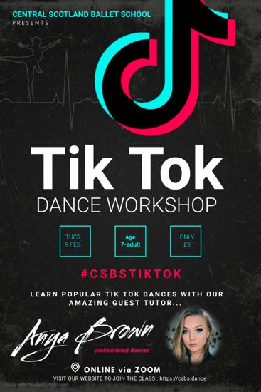 Picture of Tik Tok dance workshop