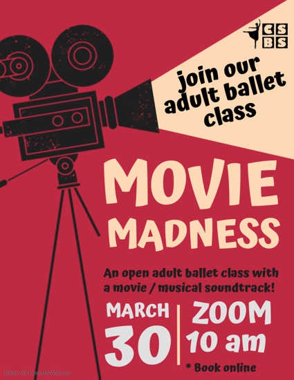 Picture of Movie Madness Adult Ballet